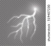 Realistic Vector Lightning  On...