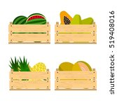vector crate with fresh fruits. ... | Shutterstock .eps vector #519408016