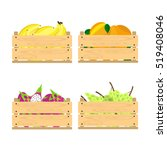vector crate with fresh fruits. ... | Shutterstock .eps vector #519408046