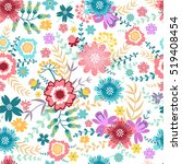 bright seamless pattern with... | Shutterstock .eps vector #519408454