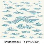 Vector Waves Set Of Elements...