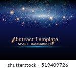 magic space. fairy dust.... | Shutterstock .eps vector #519409726