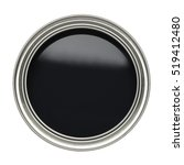 open tin can of black paint... | Shutterstock . vector #519412480
