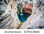 spa pool  hamersley gorge at... | Shutterstock . vector #519413860