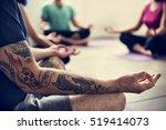 yoga practice exercise class... | Shutterstock . vector #519414073