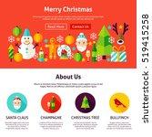 merry christmas website design. ...   Shutterstock .eps vector #519415258