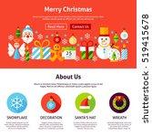 merry christmas web design....   Shutterstock .eps vector #519415678