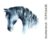 Watercolor Hand Painting Horse...