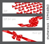 banners with red satin gift...   Shutterstock .eps vector #519416863
