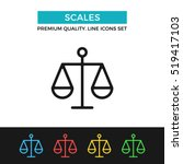 vector scales icon. measure... | Shutterstock .eps vector #519417103