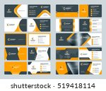 business card templates.... | Shutterstock .eps vector #519418114