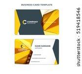 creative business card template ... | Shutterstock .eps vector #519418546
