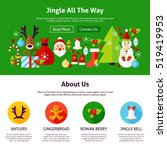 merry christmas web design.... | Shutterstock .eps vector #519419953