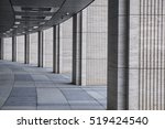long tunnel with columns made... | Shutterstock . vector #519424540