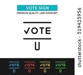 vector vote sign icon. voting ...