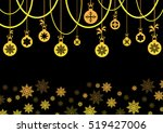 decorative snowflake background ... | Shutterstock .eps vector #519427006