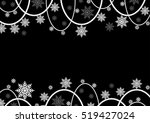 decorative snowflake background ... | Shutterstock .eps vector #519427024