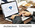 wireless internet technology... | Shutterstock . vector #519431593