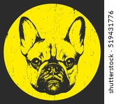 portrait of french bulldog.... | Shutterstock .eps vector #519431776