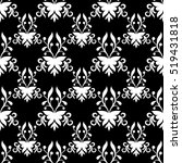 vector damask pattern design ... | Shutterstock .eps vector #519431818