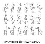 cartoon icons set of sketch... | Shutterstock .eps vector #519432409