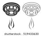 smoke detector silhouette | Shutterstock .eps vector #519433630