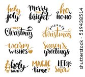 vector handwritten christmas... | Shutterstock .eps vector #519438514