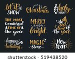 vector handwritten christmas... | Shutterstock .eps vector #519438520