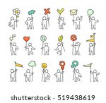 cartoon icons set of sketch...   Shutterstock .eps vector #519438619