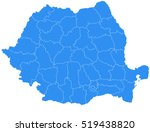 vector map romania country