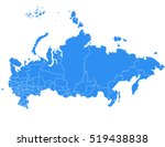 vector map russia country | Shutterstock .eps vector #519438838