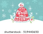 christmas background with... | Shutterstock .eps vector #519440650
