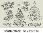 Set Of Christmas Lettering...