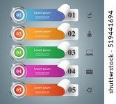 business infographics origami... | Shutterstock .eps vector #519441694