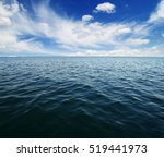blue sea water surface on sky | Shutterstock . vector #519441973