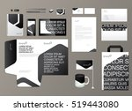 corporate identity template.... | Shutterstock .eps vector #519443080