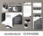 corporate identity template.... | Shutterstock .eps vector #519443080