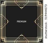 vector geometric frame in art... | Shutterstock .eps vector #519444073