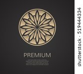 golden flower shape. gradient... | Shutterstock .eps vector #519444334