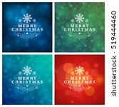 christmas greeting cards... | Shutterstock .eps vector #519444460