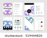geometric background template... | Shutterstock .eps vector #519444820