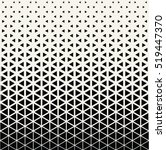 Abstract geometric black and white graphic design print halftone triangle pattern | Shutterstock vector #519447370