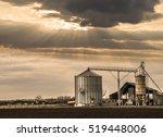 industrial scene sunset | Shutterstock . vector #519448006