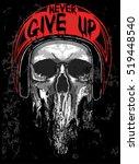 skull t shirt graphic design | Shutterstock .eps vector #519448540