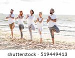 yoga  fitness  sport and... | Shutterstock . vector #519449413