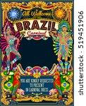 rio carnaval people festival... | Shutterstock .eps vector #519451906