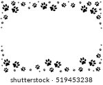 paw prints  animal tracks... | Shutterstock . vector #519453238