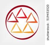 triangles | Shutterstock .eps vector #519453520