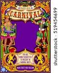 mardi gras festival poster...   Shutterstock .eps vector #519454699
