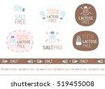 vector salt free sign set | Shutterstock .eps vector #519455008